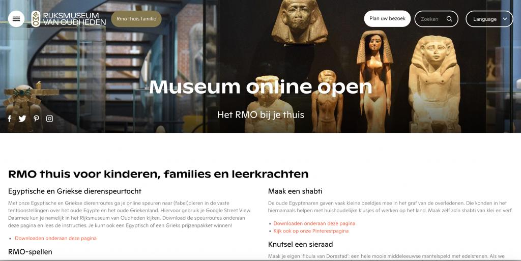 Rijksmuseum van Oudheden online voor kinderen