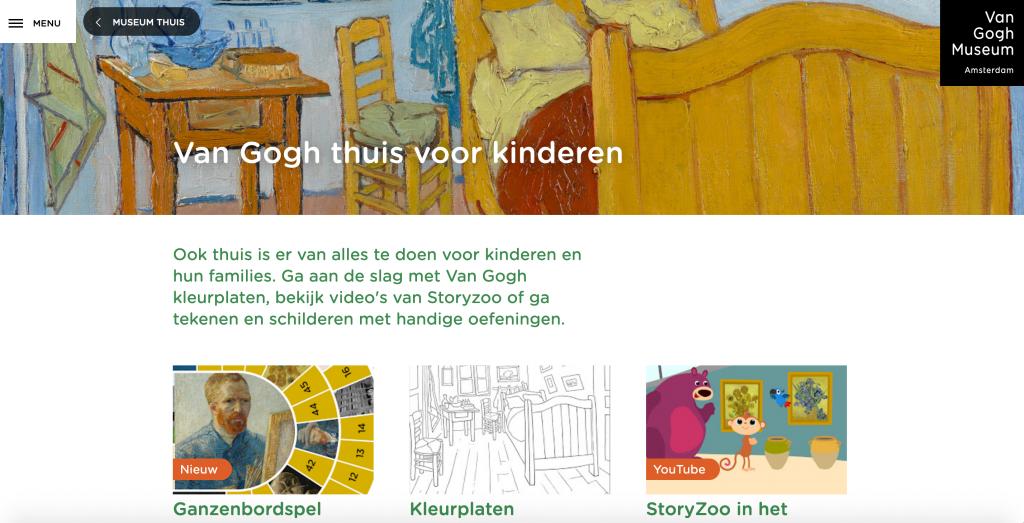 Van Gogh Museum thuis voor kinderen