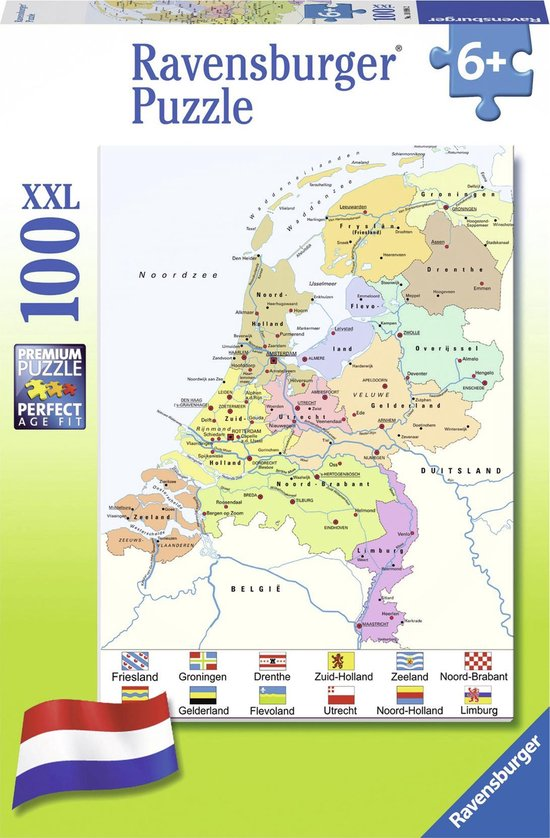 topografie Nederland oefenen met puzzel