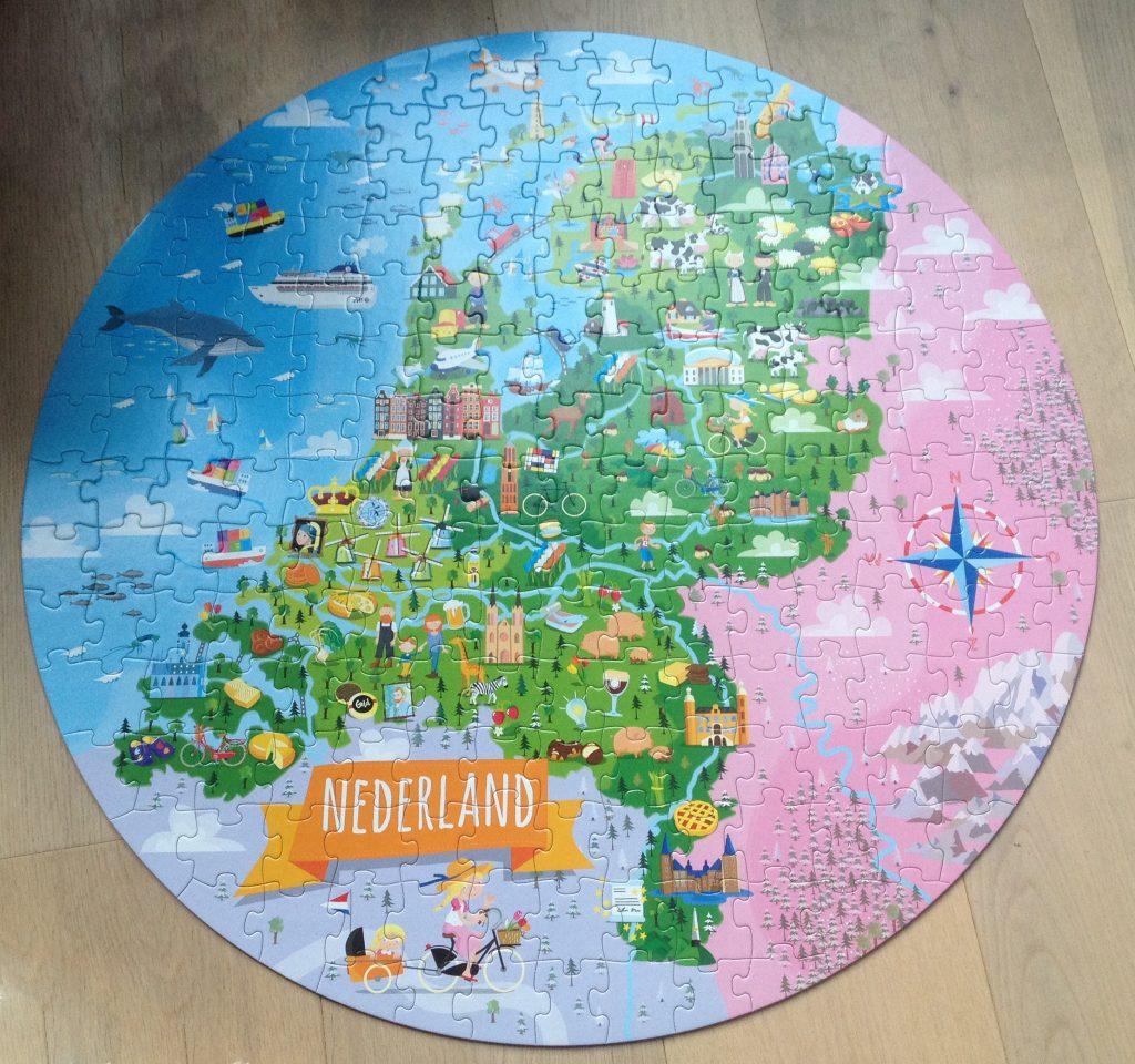 reis ontdek leer topografie Nederland