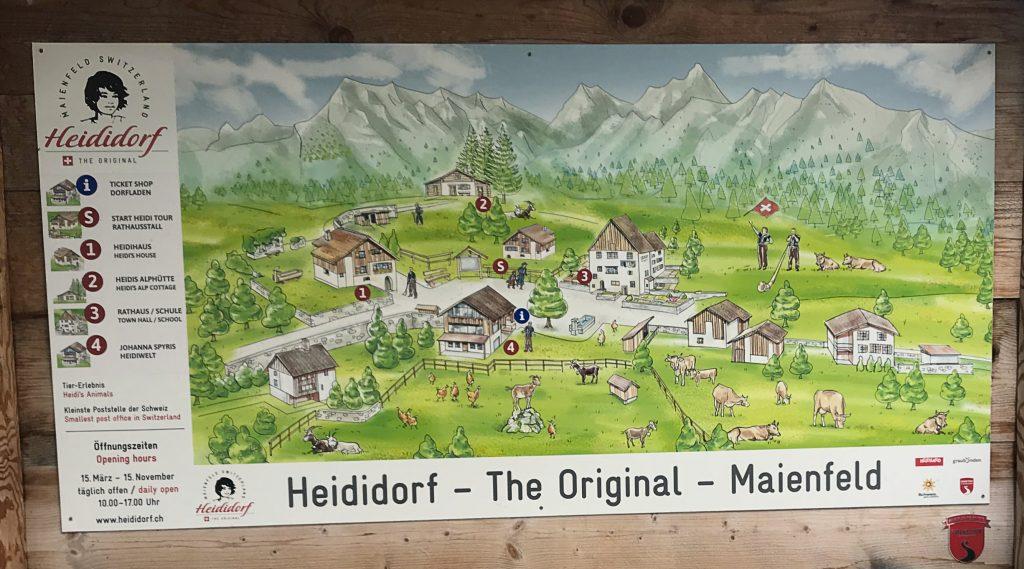 Heididorf Maienfeld Zwitserland