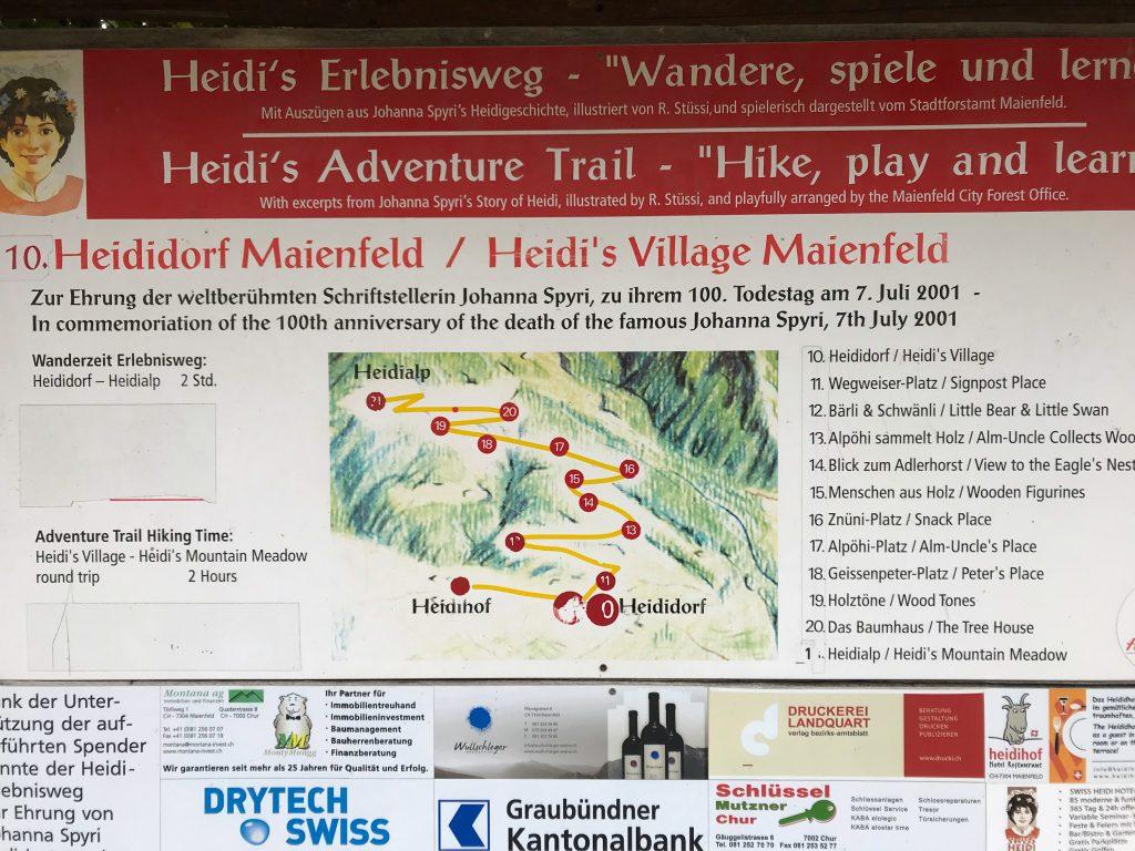 kaart Heidi's Erlebnisweg