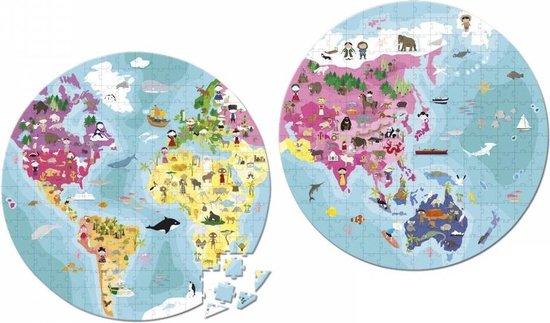 janod puzzel wereldkaart