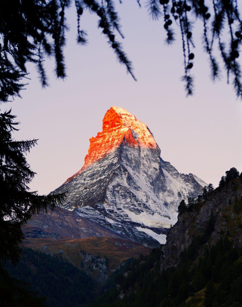 zonsopgang Zermatt